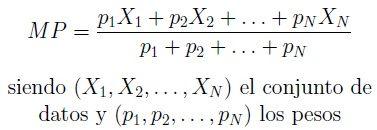 Formula de la media ponderada