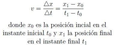 Fórmula de la velocidad en un movimiento rectilíneo uniforme (MRU)