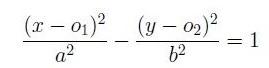 Fórmula de la ecuación de la hipérbola