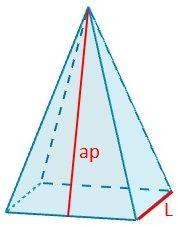 rea de la piramide cuadrangular