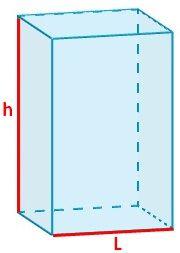 rea del prisma cuadrangular
