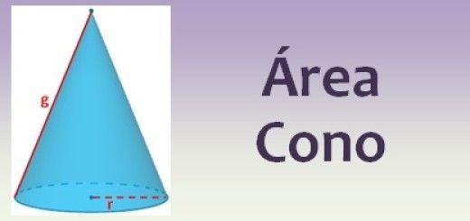 Área del cono