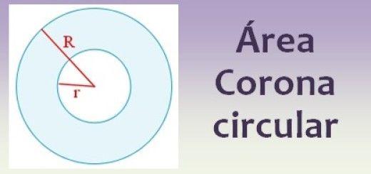 Área de la corona circular