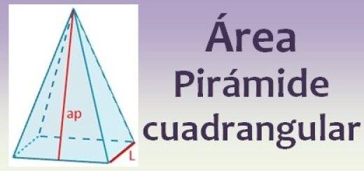 Área de la pirámide cuadrangular