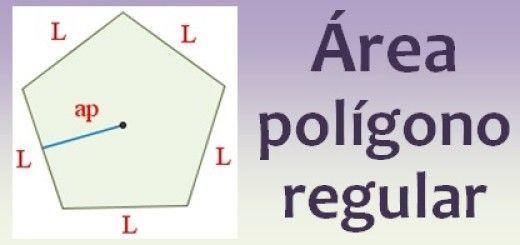 Área del polígono regular