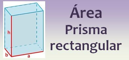 Área del prisma rectangular