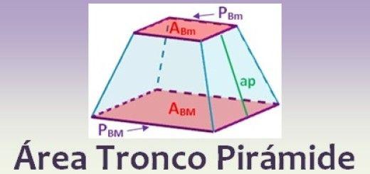 Área del tronco de pirámide