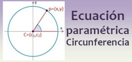 Ecuación paramétrica de la circunferencia