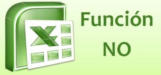 Función NO del Excel