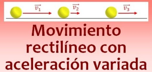 Movimiento rectilíneo con aceleración variada