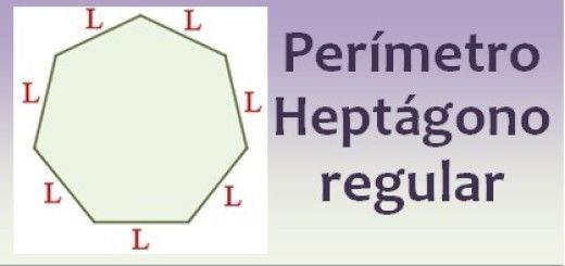 Perímetro del heptágono regular