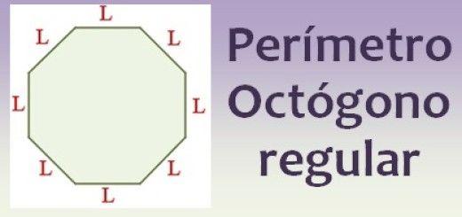 Perímetro del octógono regular