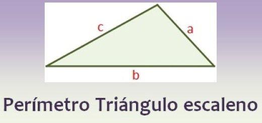 Perímetro de un triángulo escaleno