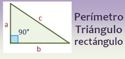 Perímetro de un triángulo rectángulo