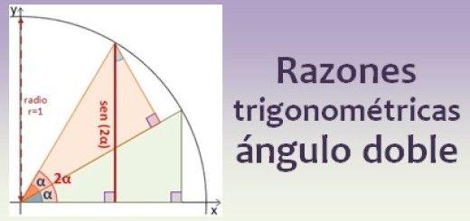 Razones trigonométricas del ángulo doble
