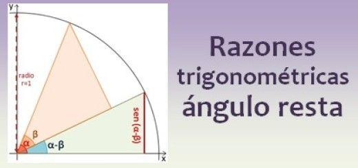 Razones trigonométricas del ángulo resta