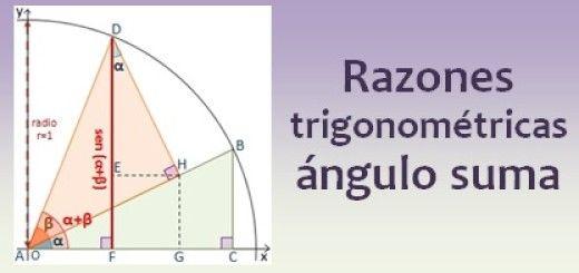 Razones trigonométricas del ángulo suma