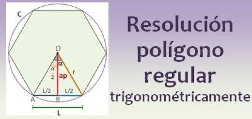 Resolución del polígono regular trigonométricamente