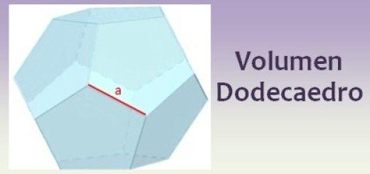 Volumen del dodecaedro