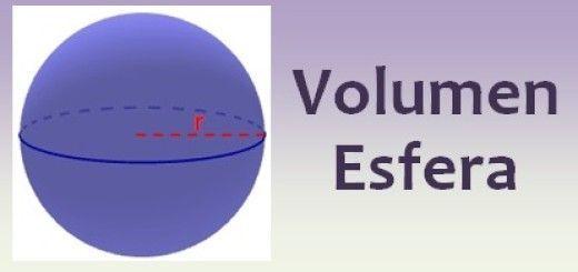 Volumen de la esfera