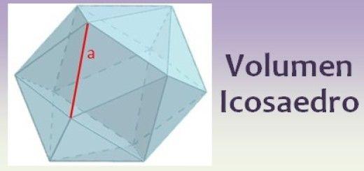 Volumen del icosaedro