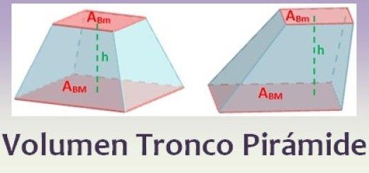 Volumen del tronco de pirámide