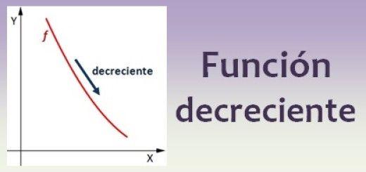 Función decreciente