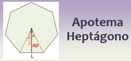Apotema del heptágono