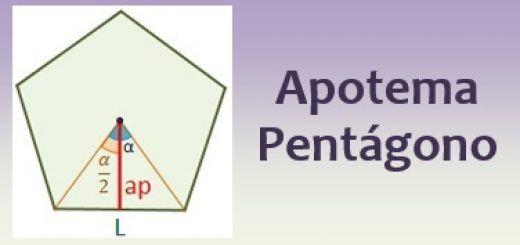 Apotema de un pentágono
