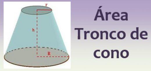 Área del tronco de cono