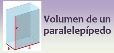 Volumen de un paralelepípedo