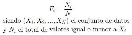 Fórmula de frecuencia relativa acumulada