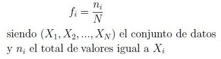 Fórmula de Frecuencia relativa