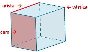 Dibujo de las partes del poliedro