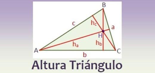 Altura de un triángulo