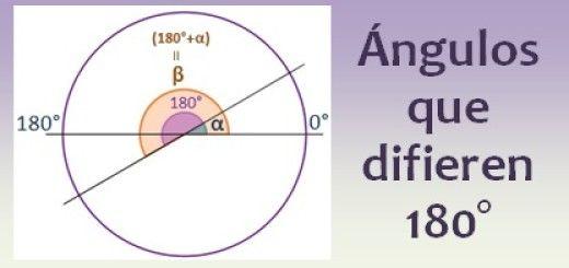 Ángulos que difieren 180 grados