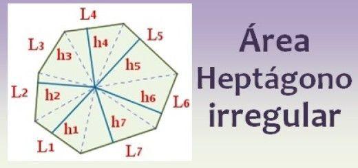 Área del heptágono irregular