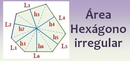 Área del hexágono irregular