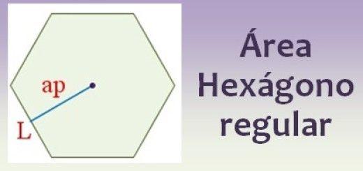 Área del hexágono regular