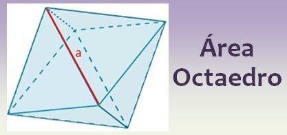 Área del octaedro