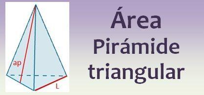 Área de la pirámide triangular