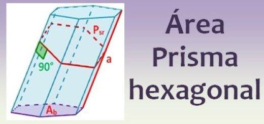 Área del prisma hexagonal