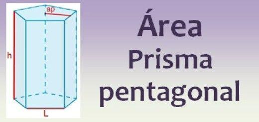 Área del prisma pentagonal