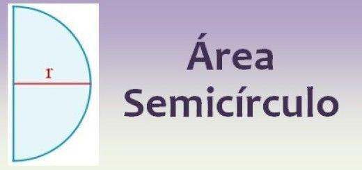 Área del semicírculo
