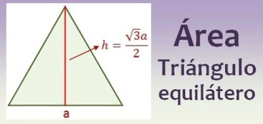 Área de un triángulo equilátero
