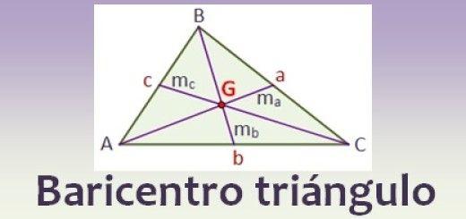 Baricentro (o centroide) de un triángulo