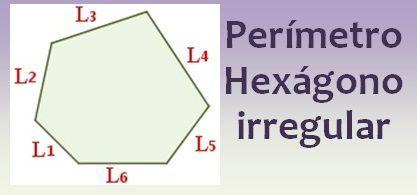 Perímetro del hexágono irregular