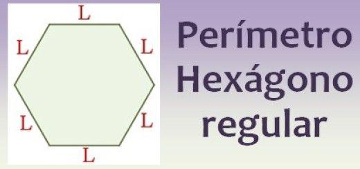 Perímetro del hexágono regular