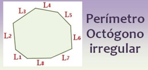 Perímetro del octógono irregular