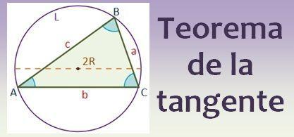 Teorema de la tangente